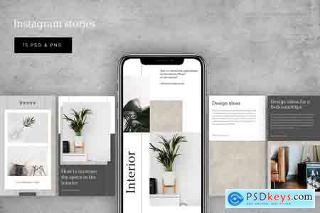 Creativemarket Interior social media template