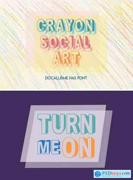 Crayon Social Art Font
