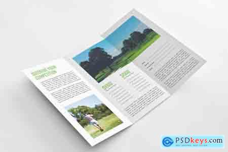 Creativemarket Golf Event Tri-fold Brochure