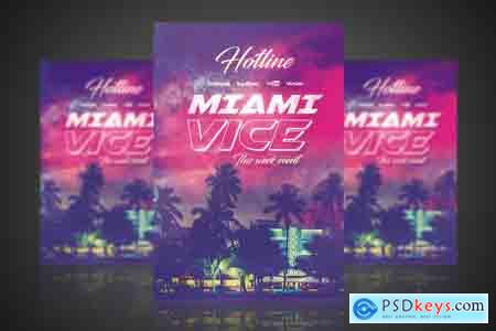 Creativemarket Miami Vice - Flyer Poster