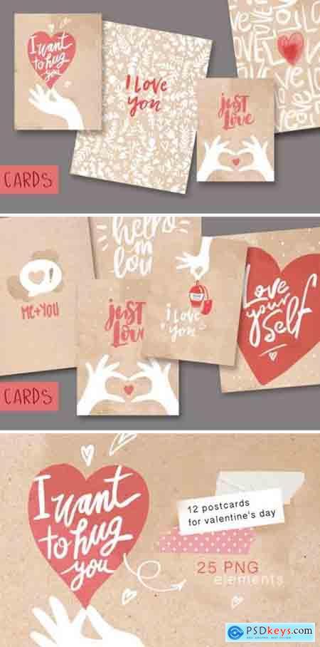 Postcards valentine day