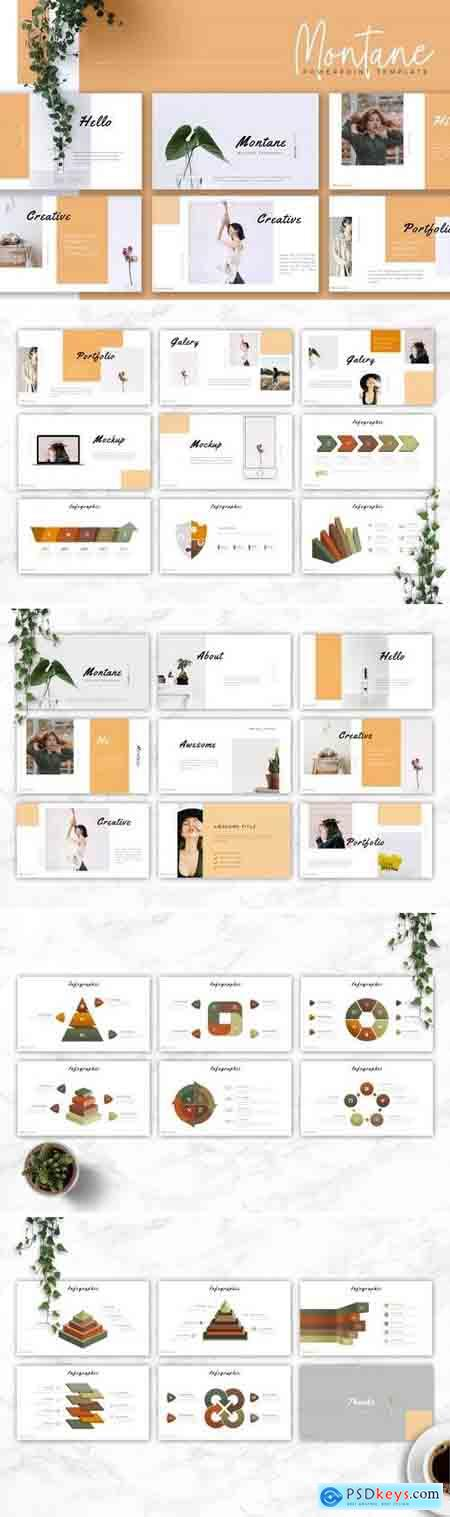 MONTANE - Powerpoint, Keynote, Google Sliders Templates