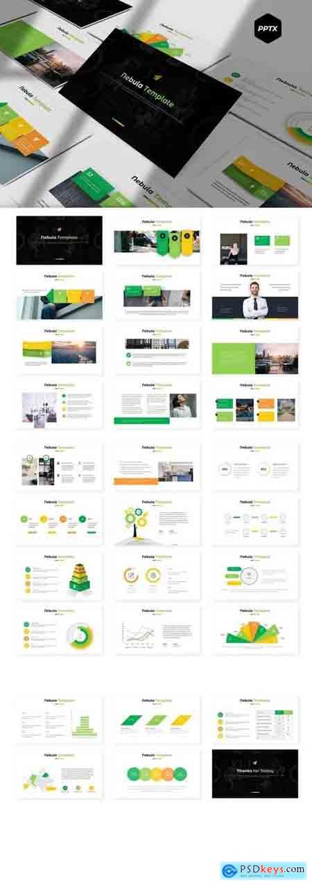 Nebula - Powerpoint, Keynote, Google Sliders Templates
