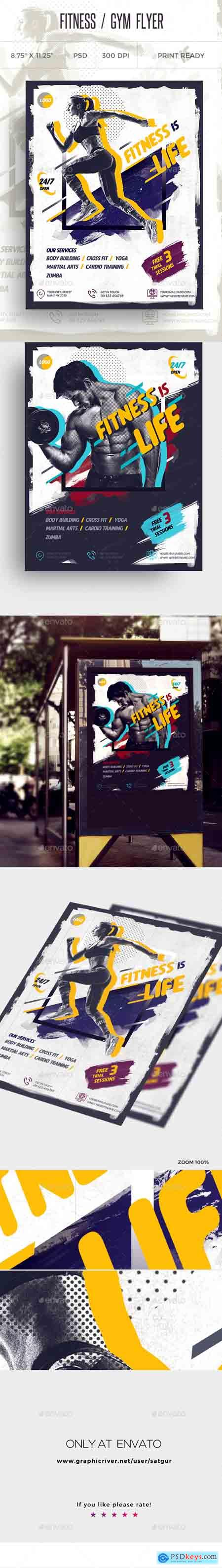Graphicriver Fitness Flyer Gym Flyer V9