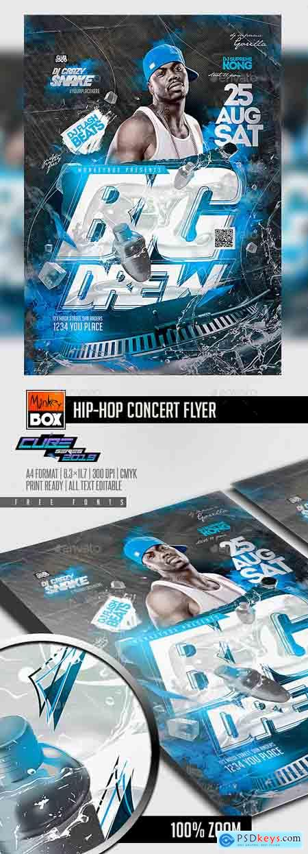 Graphicriver Hip-Hop Concert Flyer