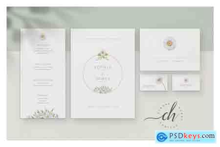 Creativemarket Opal Wedding Invitation Suite