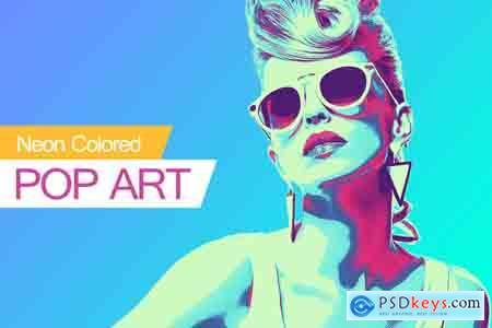 Creativemarket Neon Colored POP ART