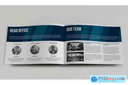Thehungryjpeg 12 Page Landscape Corporate Brochure