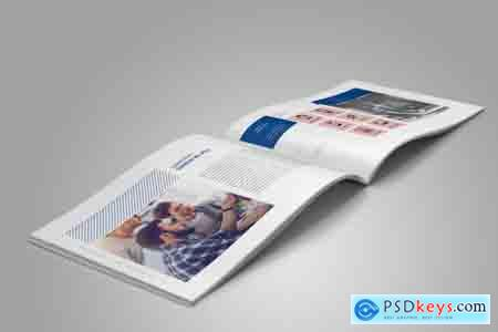 Thehungryjpeg Horizontal Annual Report Template