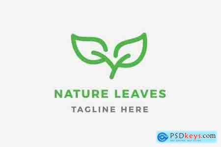 Nature Leaves Logo Template