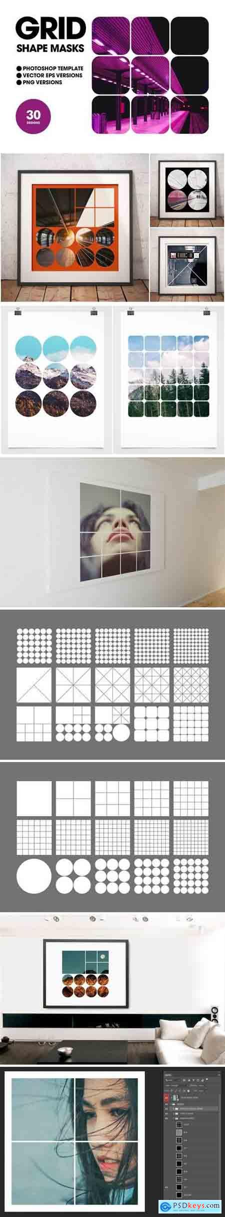 Grid Shape Masks