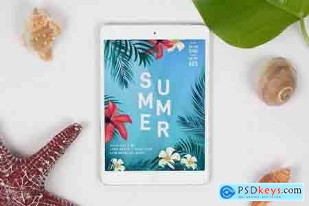 Summer Tablet Mock Up