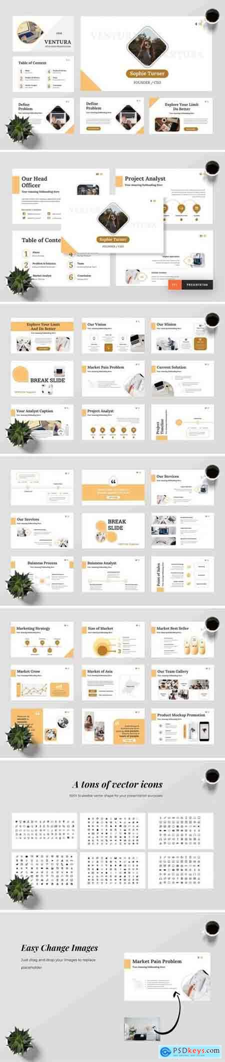 Ventura - Powerpoint, Keynote, Google Sliders Templates