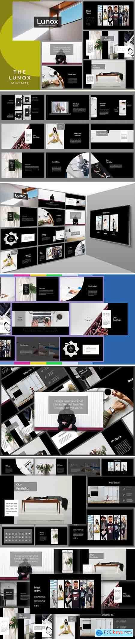 Lunox Dark - Powerpoint, Keynote, Google Sliders Templates