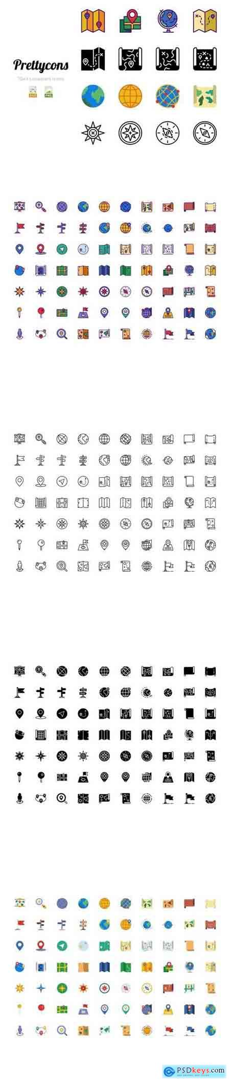 Prettycons - 280 Locations Icons Vol.1