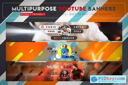 CreativeMarket Creative MultiPurpose YouTube Banner