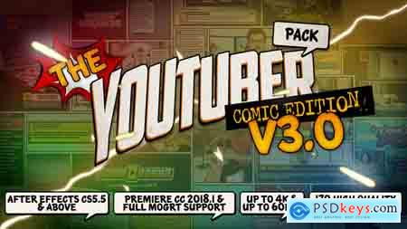 Videohive The YouTuber Pack - Comic Edition V3.0 Update 17 December 18 Free