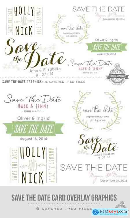 Creativemarket Save the Date Overlay Graphics