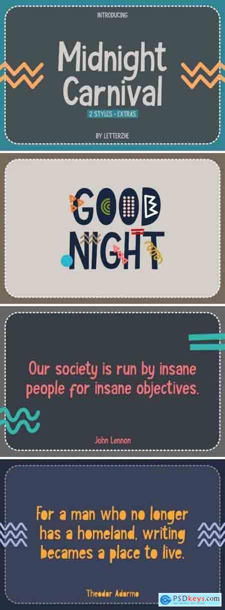 Creativemarket Midnight Carnival