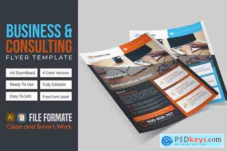 CreativeMarket Business & Consulting Flyer