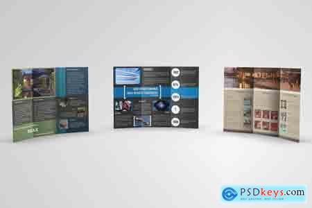 CreativeMarket Trifold Brochures Bundle 01