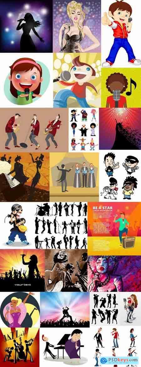 Artist singer soloist song music poster a vector image 25 EPS