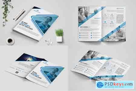 Bi-Fold Business Brochure Bundle template