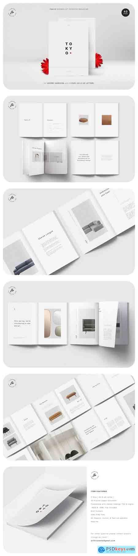 Creativemarket TOKYO Minimalist Interior Magazine