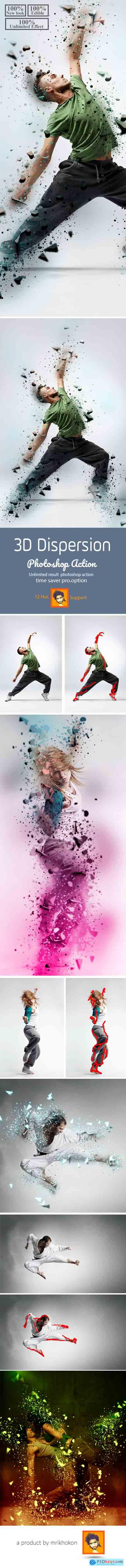 Graphicriver 3D Dispersion Photoshop Action