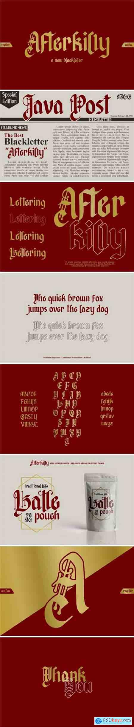 Creativemarket Afterkilly - Blackletter Typeface