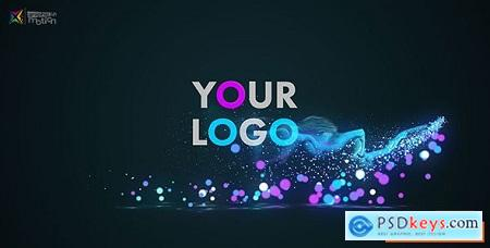 Videohive Glow Particles Logo Free