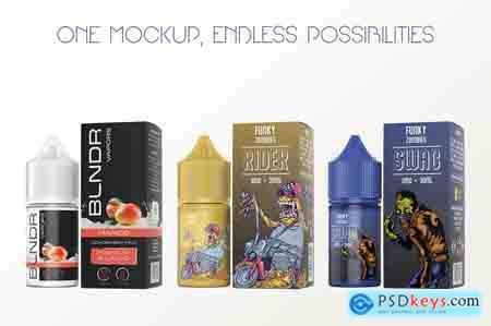 Creativemarket eLiquid Bottle Mockup v 1C Plus