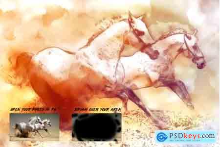 Creativemarket Realistic Watercolor Photoshop Action