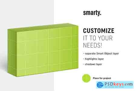 Creativemarket Soap box mockup 90x55x25 mm