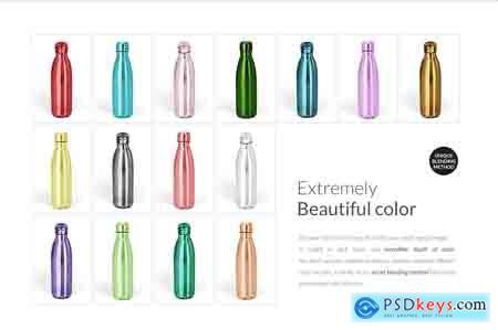 Creativemarket Stainless Steel Water Bottle Mock-up