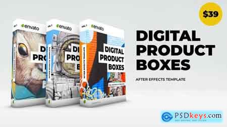 Videohive Digital Product Boxes Free