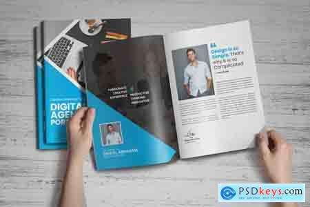 Creativemarket Digital Agency Portfolio Brochure v1