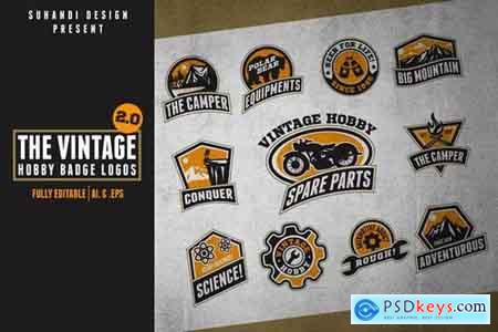 The Vintage 2.0 - Hobby Logo Badges