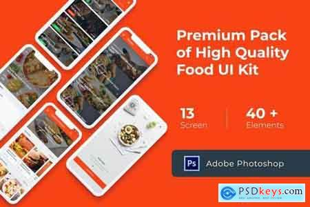Food Cooking Recipes UI KIT for Photoshop