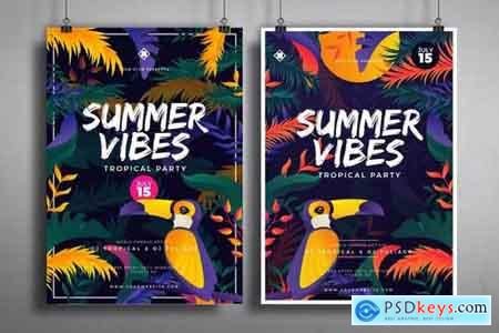 Tropical Summer Posters