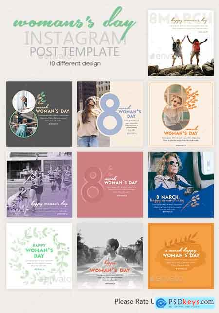 Graphicriver Instagram Post Templates - Woman's Day