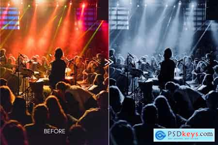 Creativemarket Cinematic Moody Concert LR Presets