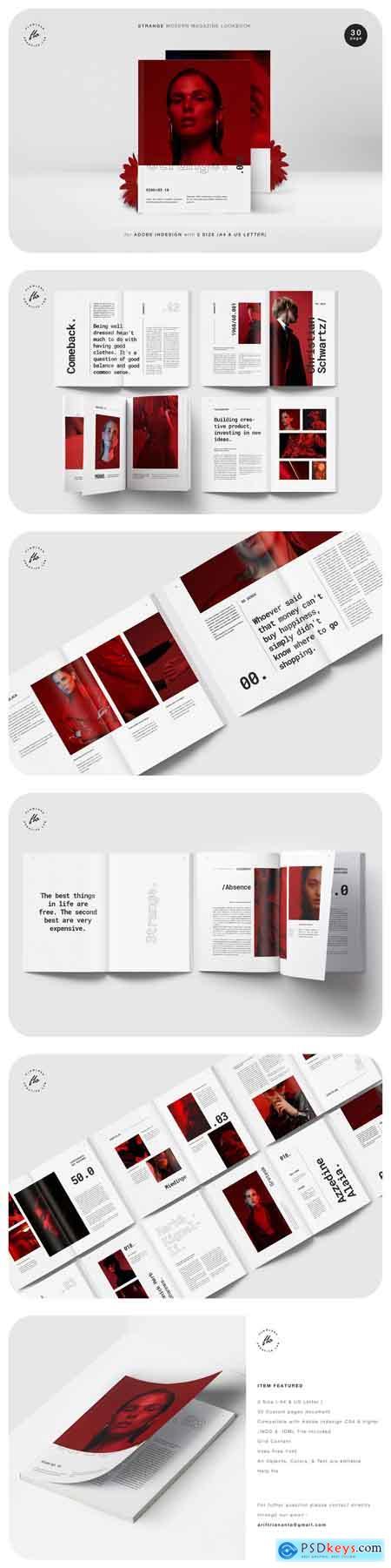 Creativemarket STRANGE Modern Magazine Lookbook