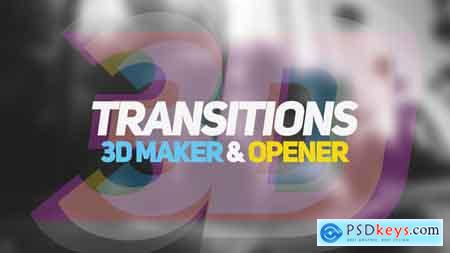 VideoHive 3D Transitions 3D Maker & Opener Free