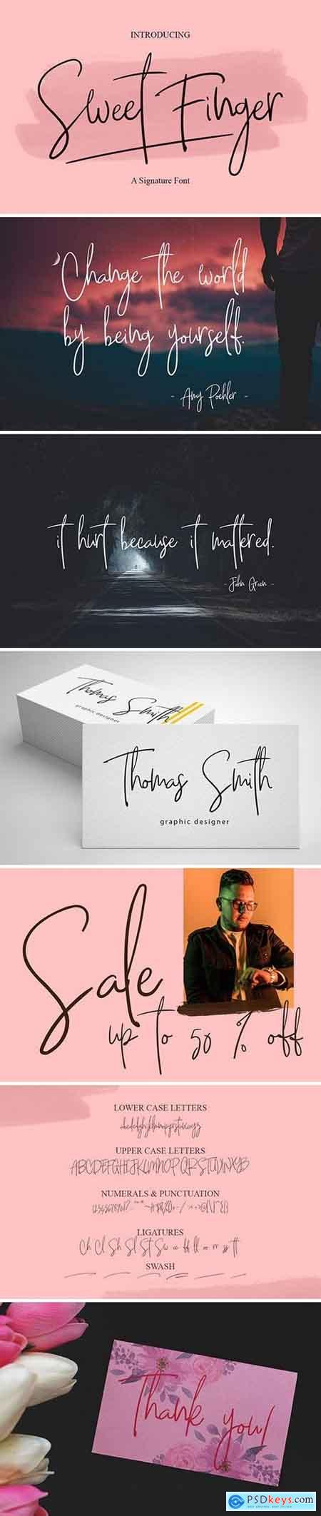 Sweet Finger Font