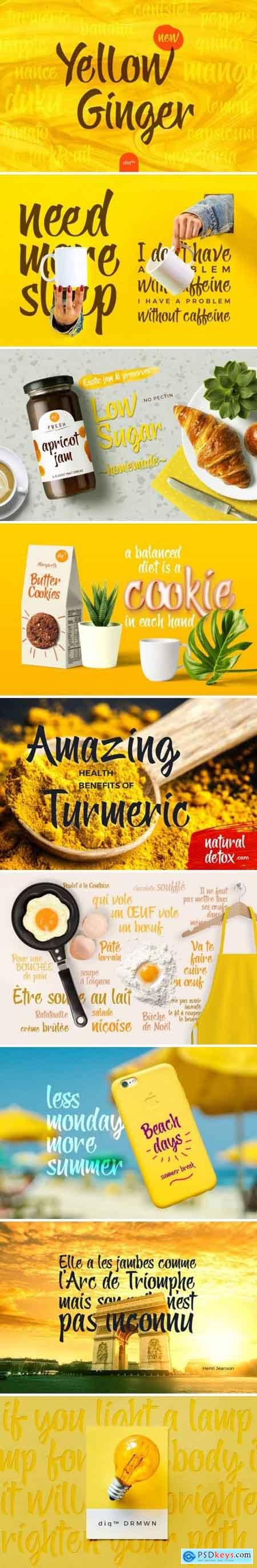 Yellow Ginger Font