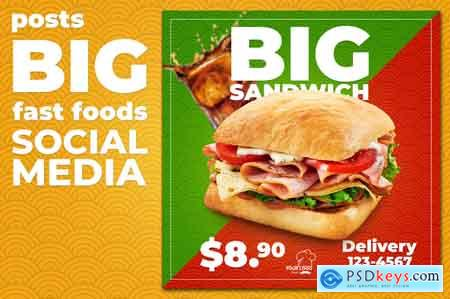 Creativemarket Social Media Fast Foods
