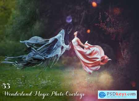 Creativemarket 33 Wonderland Magic Photo Overlays