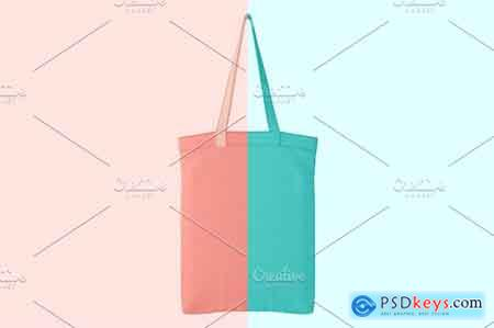 Creativemarket Canvas bag PSD object mockup