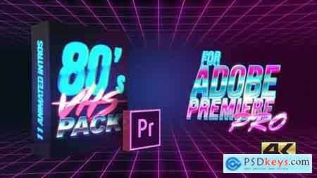 Videohive 80's VHS Intro Pack MOGRT for Premiere Pro Free